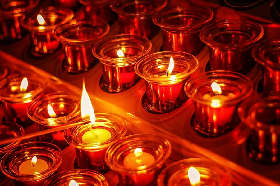 catholic candle memorial traditions