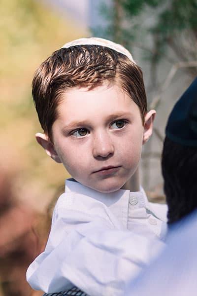 jewish boy at funeral