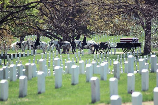 veteran funeral cemetary
